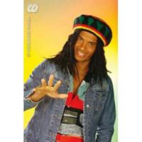 Tvs Bob Marley Şapkası Reggae Şapka Peruk Set