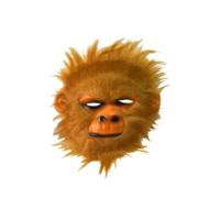 Tvs Maymun Maskesi Kahve Renk