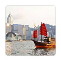 Fotografyabaskı Nehir - Hong Kong Bardak Altlığı Baskı 4'lü Set