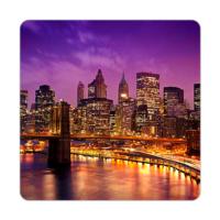 Fotografyabaskı Brooklyn Köprüsü - New York Bardak Altlığı 4'lü Set