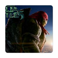 Fotografyabaskı Bardak Altlığı Baskı 4'lü Set Ninja Kaplumbağalar Raphael