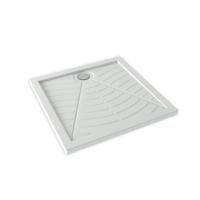 Bocchi Care Comfort Sıfır Zemin Kare Duş Teknesi 80 X 80 Cm Beyaz