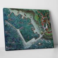 Paşa Home Balıkçı Limanı Minyatürü Kanvas Tablo