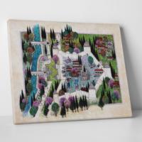Paşa Home Edirne Sarayı Minyatürü Kanvas Tablo
