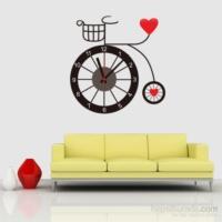 Vip Bisiklet Tasarımlı Duvara Yapışan Saat