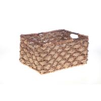 Bacbac Bancuan Hasır Dikdörtgen Sepet Natural Orta