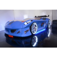Setay Arabalı Yatak , Jaguar Mavi , Full Ledli