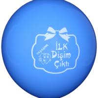 Elitparti İlk Dişim Çıktı Mavi Latex Balon
