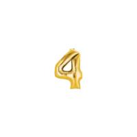 Elitparti Rakam Folyo Balon - Altın-4