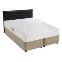 Derman Yatak Çift Kişilik Kumaş Baza + Başlık + Ekonomik Yatak 150X200