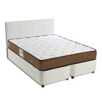 Derman Yatak Çift Kişilik Deri Baza + Başlık + Ortopedik Ultra Yatak 150X200