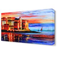Dekor Sevgisi Çarpıcı Deniz Manzarası Canvas Tablo 45x30 cm