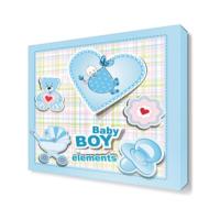 Dekor Sevgisi Erkek Bebek Çocuk Odası Canvas Tablo 30x30 cm