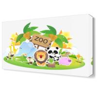 Dekor Sevgisi Zoo Canvas Tablo 45x30 cm