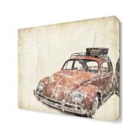 Dekor Sevgisi Nostalji Araba4 Canvas Tablo 40x40 cm