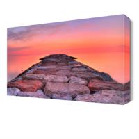 Dekor Sevgisi Gökyüzü Taş Köprü Manzarası Canvas Tablo 45x30 cm