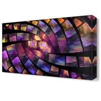 Dekor Sevgisi Mor Dekoratif Şekiller Tablosu 45x30 cm