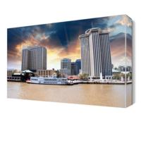Dekor Sevgisi Gemi ve Şehir Manzarası Canvas Tablo 45x30 cm