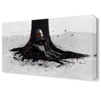 Dekor Sevgisi Ağaç Kökü Tablosu 45x30 cm