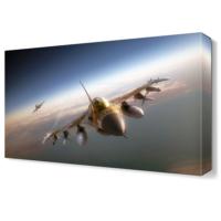 Dekor Sevgisi Uçak Tablosu 45x30 cm
