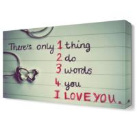 Dekor Sevgisi I Love You Tablosu 45x30 cm
