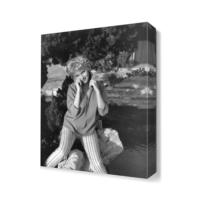 Dekor Sevgisi Nostaljik Kadın Tablosu 45x30 cm
