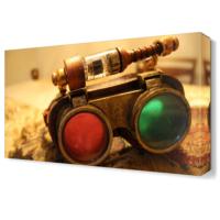 Dekor Sevgisi Renkli Dürbün Tablosu 45x30 cm