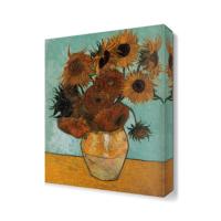Dekor Sevgisi Van Gogh Vazodaki Ayçiçekleri Tablosu 45x30 cm