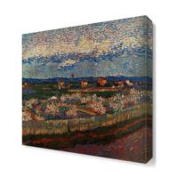 Dekor Sevgisi Köy ve Tarla Tablosu 40x40 cm