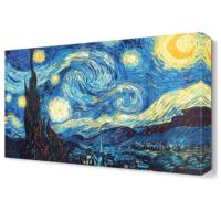 Dekor Sevgisi Van Gogh Yıldızlı Gece Tablosu 45x30 cm