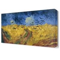 Dekor Sevgisi Van Gogh Kuşlar Tablosu 45x30 cm