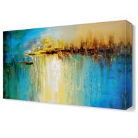Dekor Sevgisi Mavi Deniz ve Güneş Tablosu 45x30 cm
