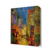 Dekor Sevgisi Binalar Tablosu 45x30 cm