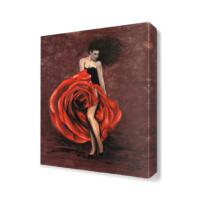 Dekor Sevgisi Gül Desenli Etek Tablosu 45x30 cm