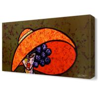 Dekor Sevgisi Mor Saçlı Kadın Tablosu 45x30 cm