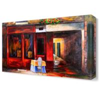 Dekor Sevgisi Masa ve Sandalye Tablosu 45x30 cm