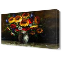 Dekor Sevgisi Vazo Çiçeği Tablosu 45x30 cm