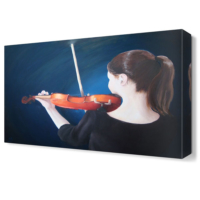 Dekor Sevgisi Kemancı Tablosu 45x30 cm