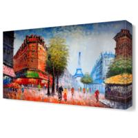 Dekor Sevgisi Eyfel Kulesi ve Paris Tablosu 45x30 cm