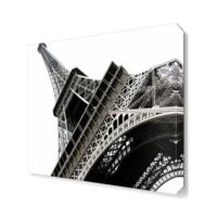 Dekor Sevgisi Eyfel Kulesi Siyah Beyaz Tablosu 40x40 cm