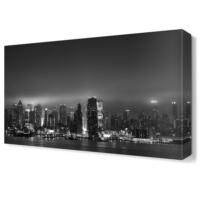 Dekor Sevgisi Siyah Beyaz Büyük Şehir Tablosu 45x30 cm