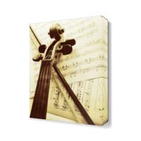 Dekor Sevgisi Keman ve Notalar Tablosu 45x30 cm