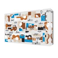 Dekor Sevgisi Dekoratif Müzik Aletleri Tablosu 45x30 cm