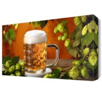 Dekor Sevgisi Bira Bardağı Canvas Tablo 45x30 cm