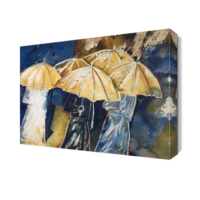 Dekor Sevgisi Şemsiye Altındaki İnsanların Tablosu 45x30 cm