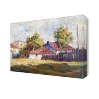 Dekor Sevgisi Köy Evleri Canvas Tablo 45x30 cm