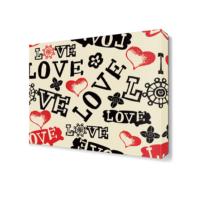 Dekor Sevgisi Love Yazıları Canvas Tablo 40x40 cm