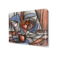 Dekor Sevgisi Dekoratif Renkli Şekiller Tablosu 40x40 cm