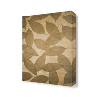 Dekor Sevgisi Kahverengi Yapraklar Canvas Tablo 45x30 cm