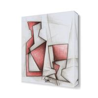Dekor Sevgisi Kırmızı Adam Tablosu 45x30 cm